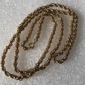 Vintage rope chain gold filled
